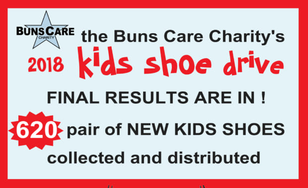 Buns Care Charity 2018 Shoe Drive